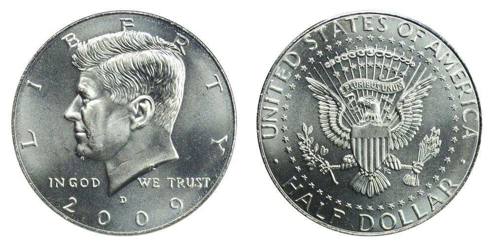 2009-D Kennedy Clad Half Dollar
