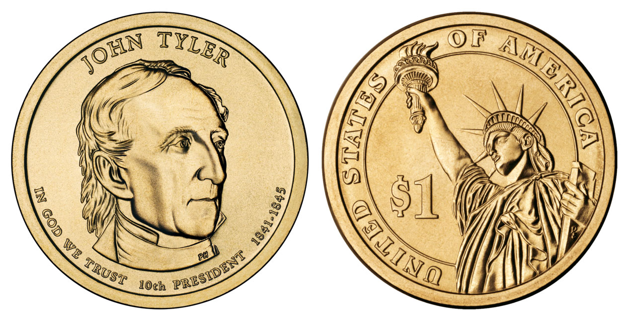 2009 D Presidential Dollars John Tyler Golden Dollar