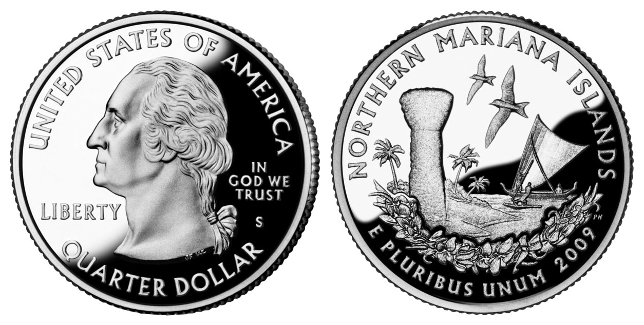 2009 S Clad Proof Northern Mariana Islands Territory Quarter Choice Uncirculated US Mint