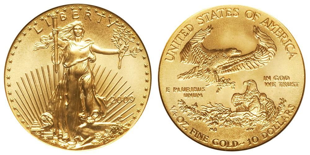 2009 American Gold Eagle Bullion Coin 10 Quarter Ounce Gold Coin Value Prices Photos Amp Info