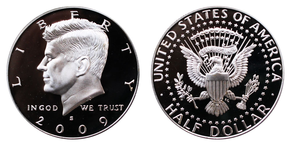 Kennedy Half Dollars 2009-P and 2009-D from Mint Rolls