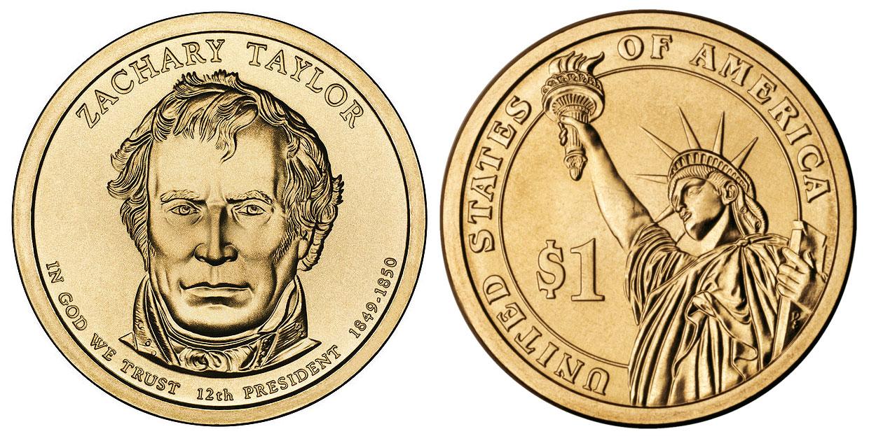2009 P Zachary Taylor Presidential Dollar Coin