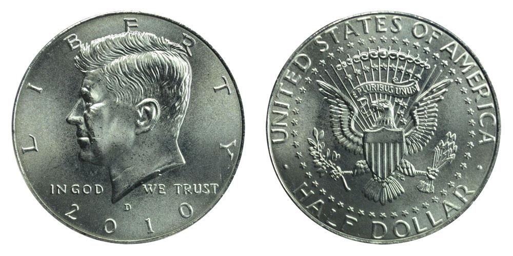 Uncirculated 2010 Kennedy D Half Dollar BU