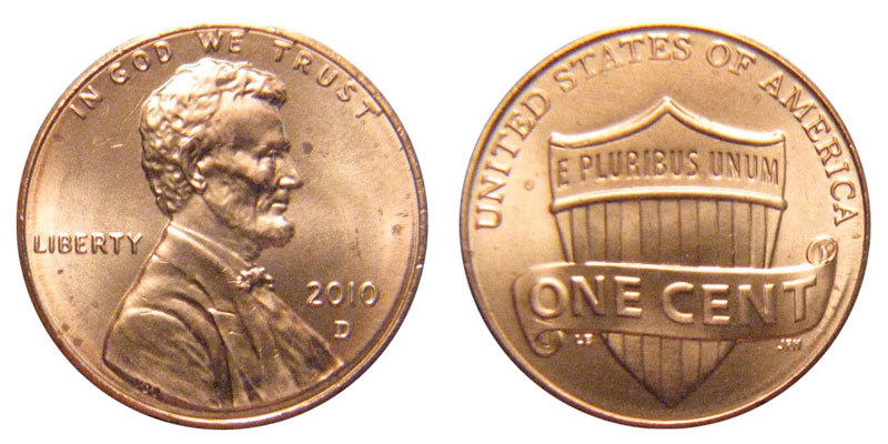 2010 D Lincoln Shield Penny Coin Value Prices, Photos & Info