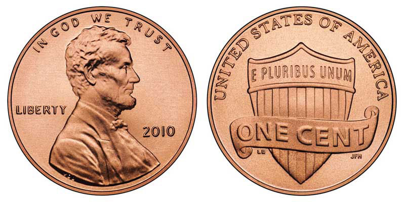 2010 Lincoln Shield Cent Copper Plated Zinc Penny Value And Prices