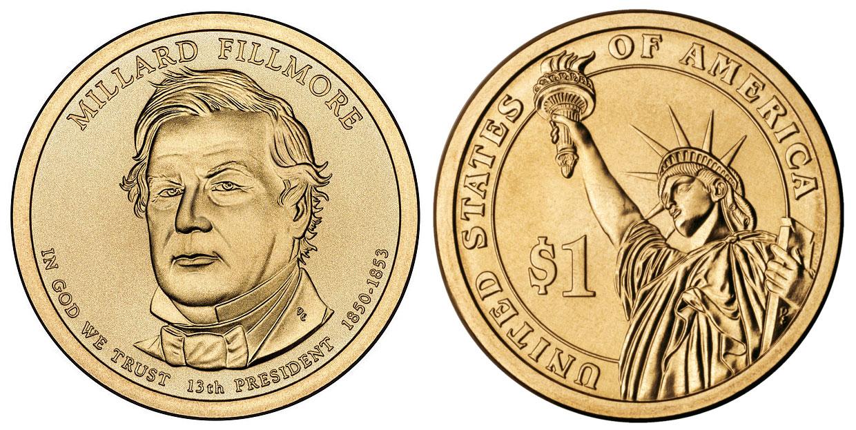 millard fillmore $1 coin