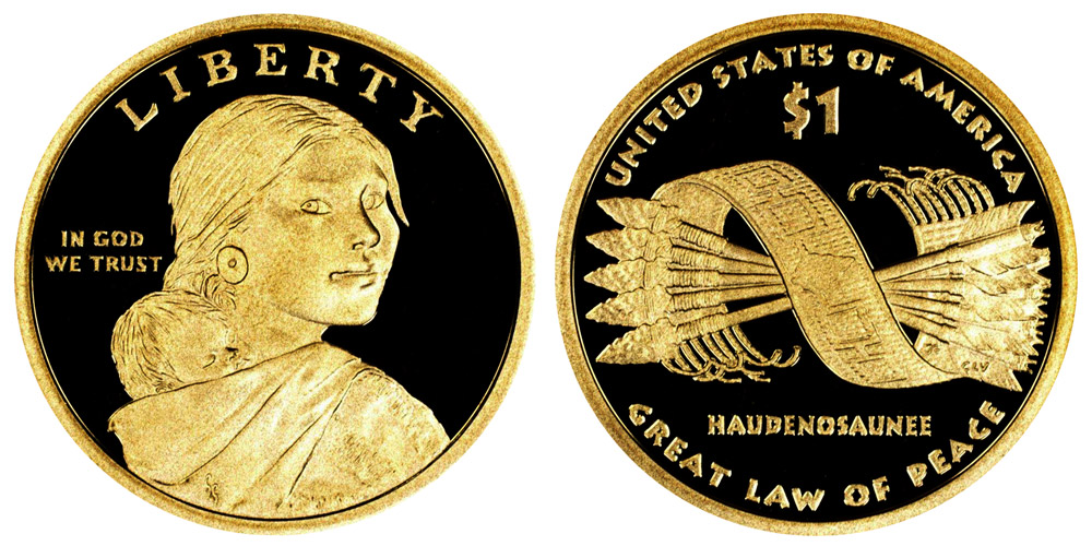 Proof 2011 Native American Sacagawea S Dollar Great Law of Peace