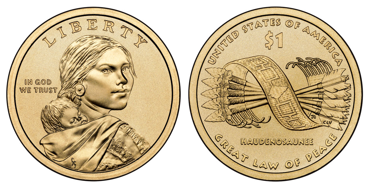 2010 D Native American Dollar Great Law Of Peace Native