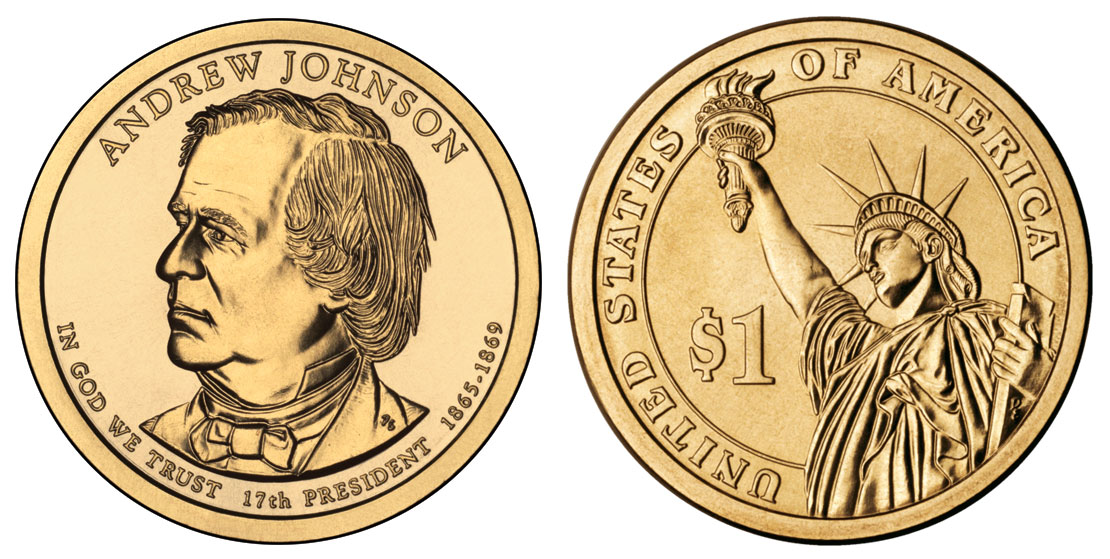 Presidential Dollar Coins 1 Golden Presidents Coins