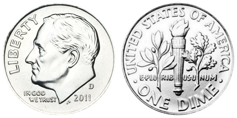 2011 D  Roosevelt Dime From Original U.S Mint Set