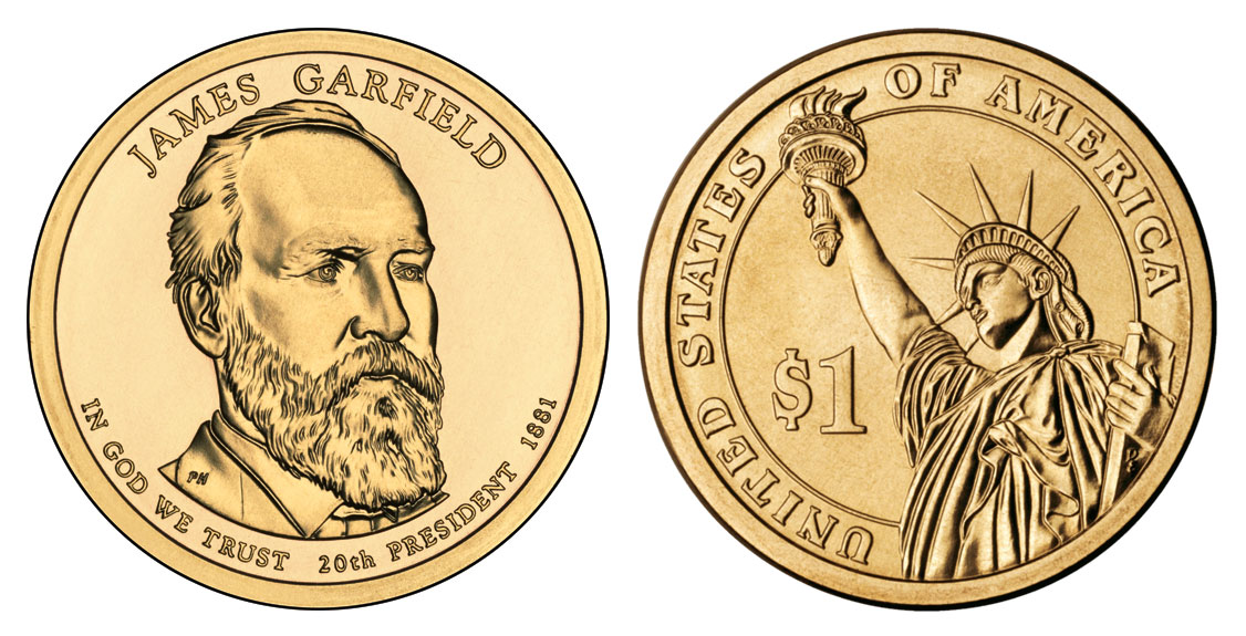 2011 P Presidential Dollars James A Garfield Golden Dollar Value