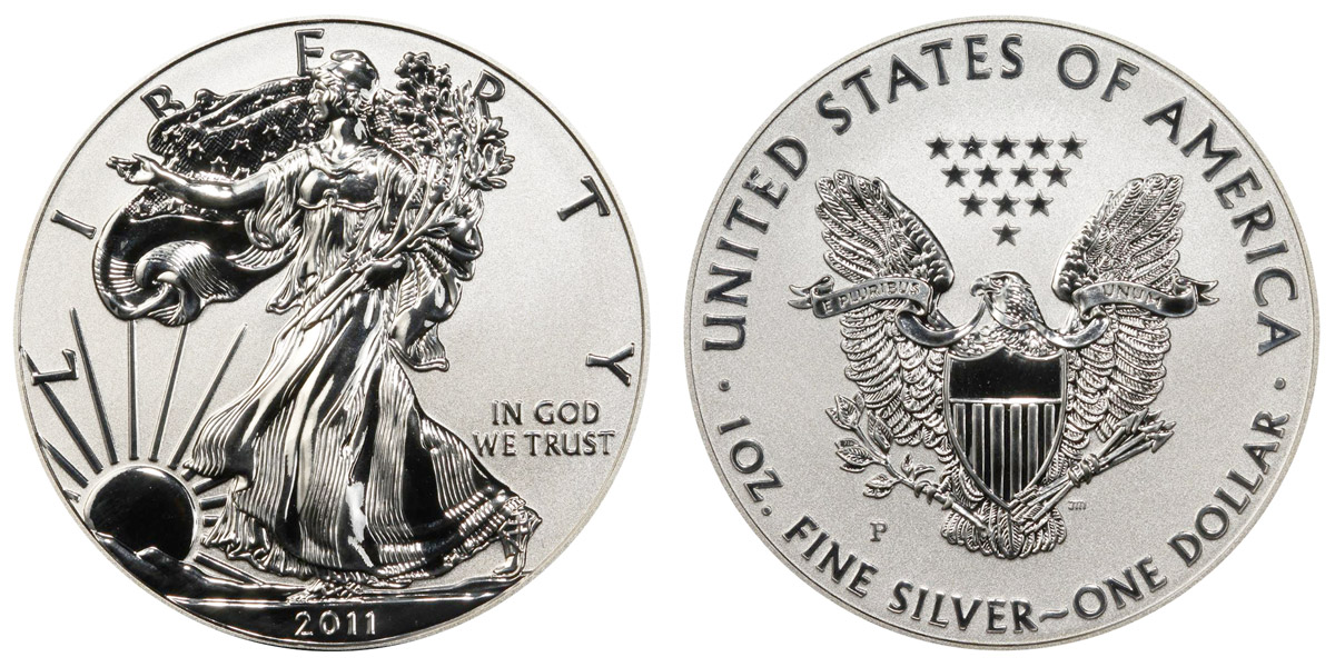 2011 P American Silver Eagle Bullion Coins Reverse Proof