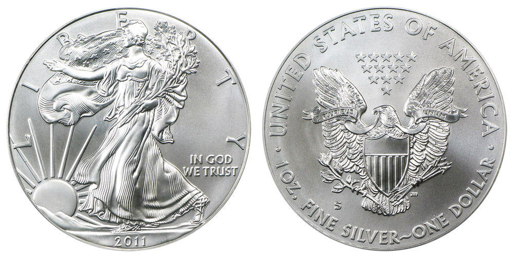 2011 S American Silver Eagle Bullion Coin Burnished One
