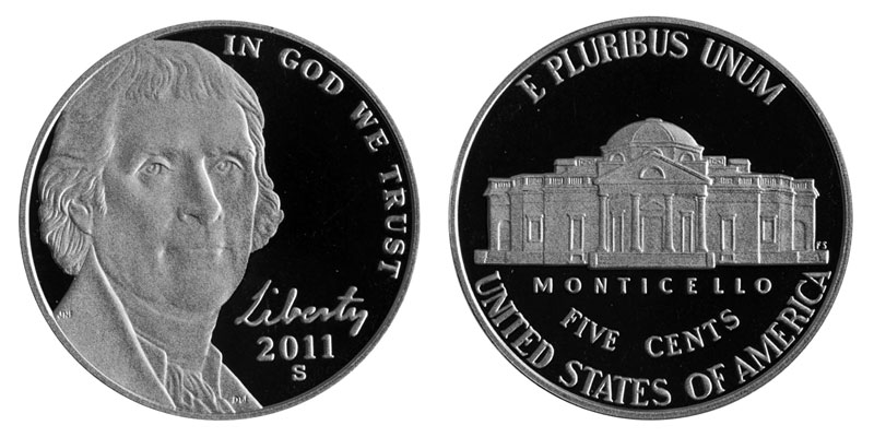 2011 Five Cents FROM MINT ROLL