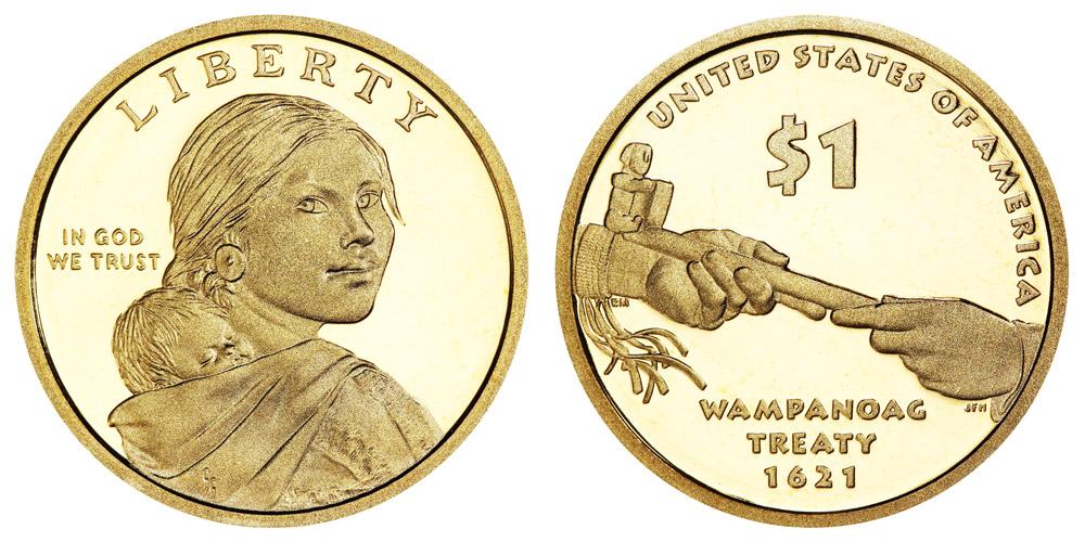 Wampanoag treaty 1621 dollar coin value - wampanoag treaty