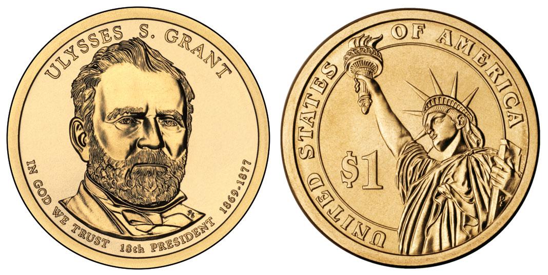 2017 P Ulysses S Grant Presidential Dollar Coin