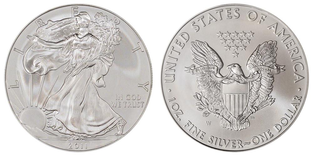 burnished silver eagle