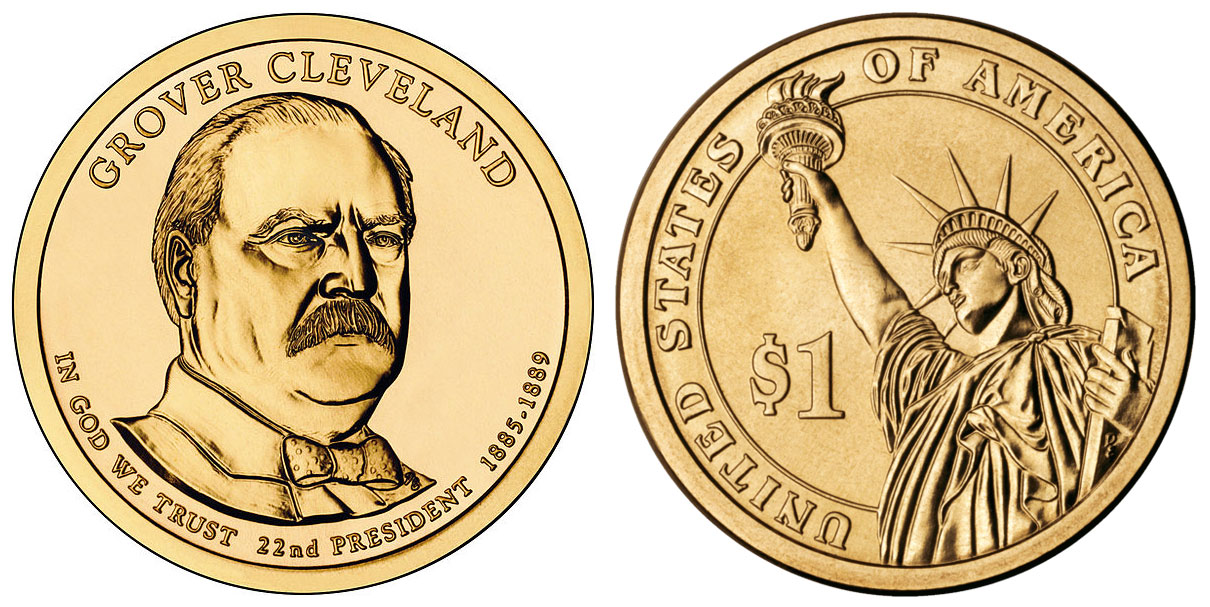 2017 P Grover Cleveland 1st Term Presidential Dollar Coin
