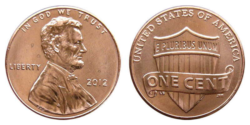 2012-P Roll Lincoln Shield Cents Uncirculated Red 50 coins
