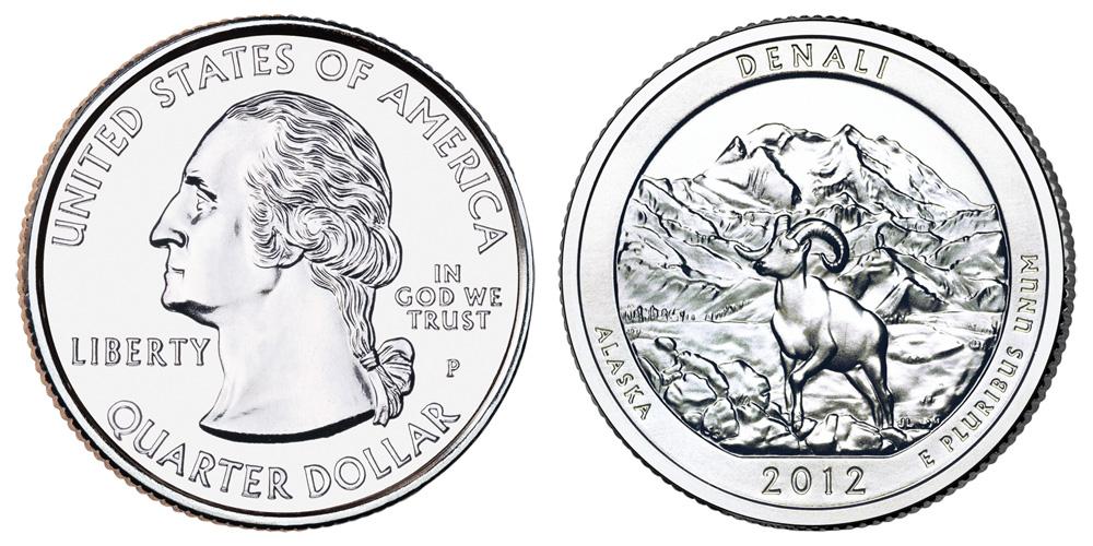 2012 P Denali Quarter Coin Value Prices, Photos & Info