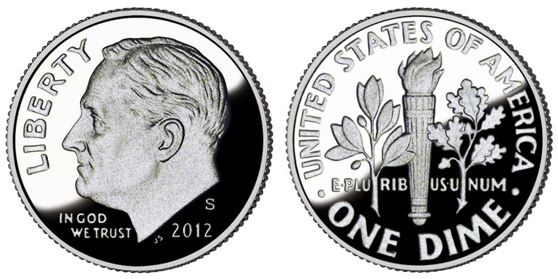 2012 D Roosevelt Dime