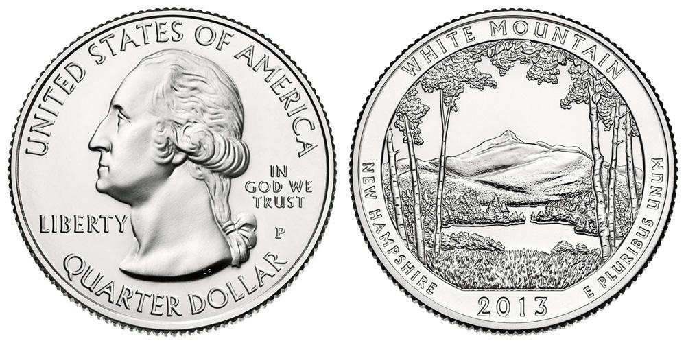 2013 P White Mountain Quarter Coin Value Prices Photos Amp Info
