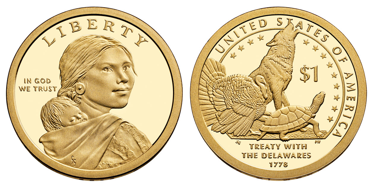 2017 Sacagawea Native American Dollar Coin