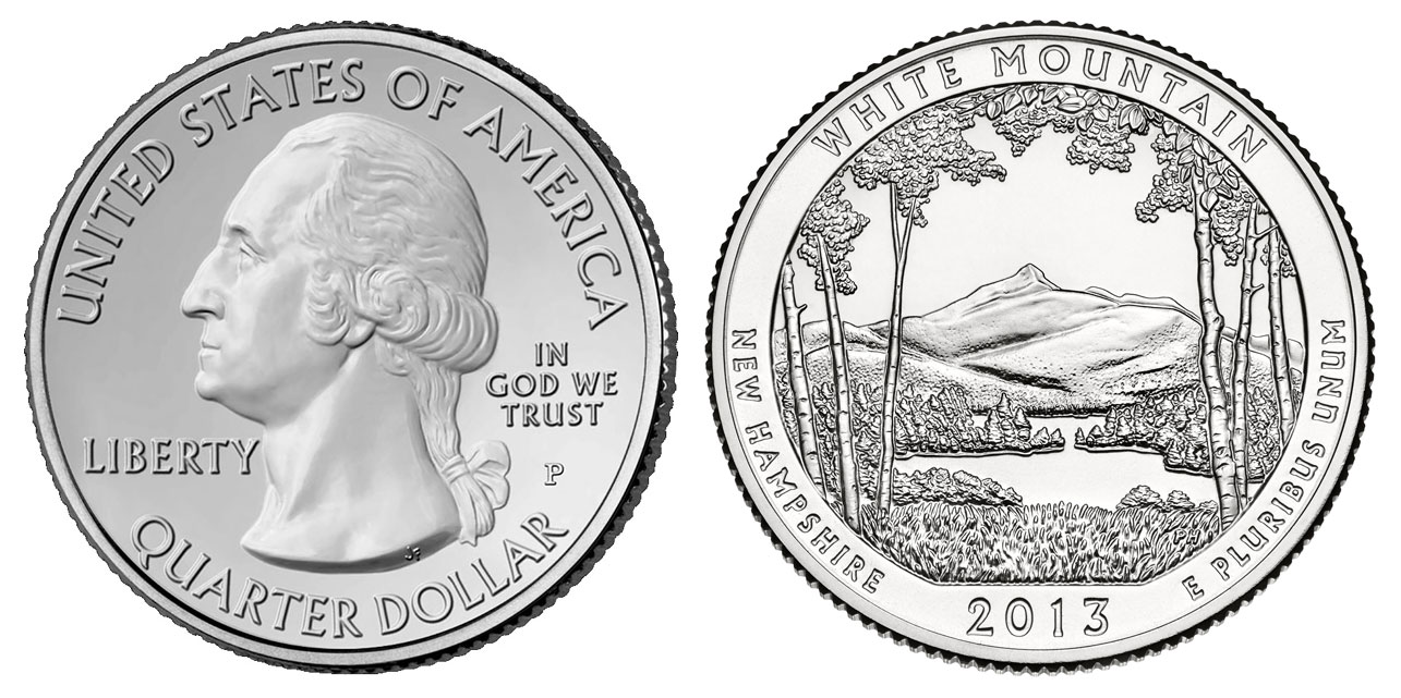 New state quarters 2015 - 2013 White Mountain National Forest Quarter New Hampshire
