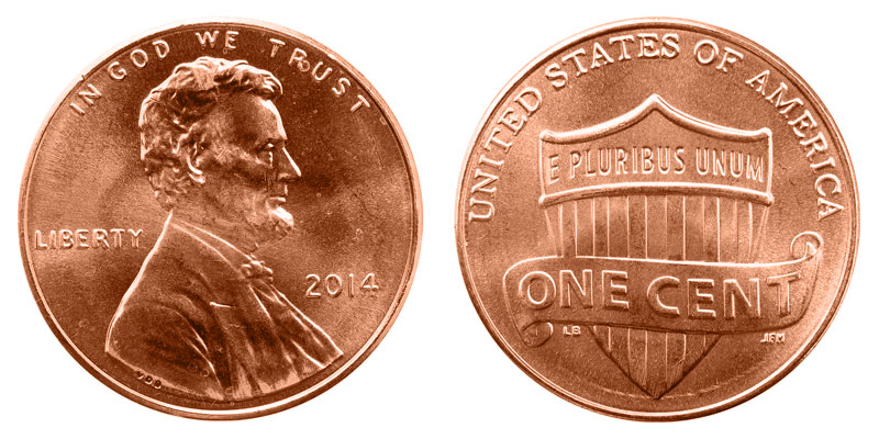 2015 P  Lincoln Shield Cent Penny
