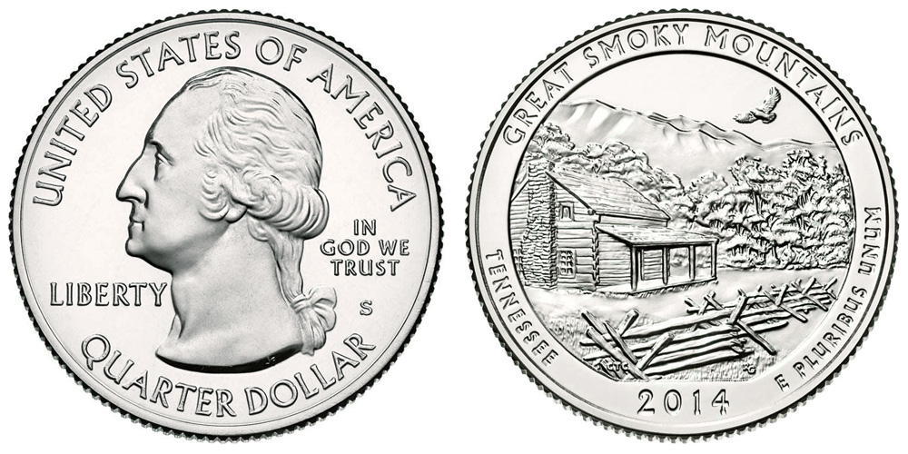 2014 Great Smoky Mtn Tenn S America the Beautiful Quarter Silver Proof