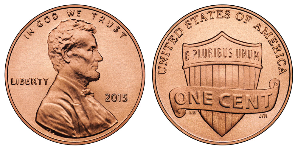 2015 Lincoln Shield Penny Coin Value Prices, Photos & Info