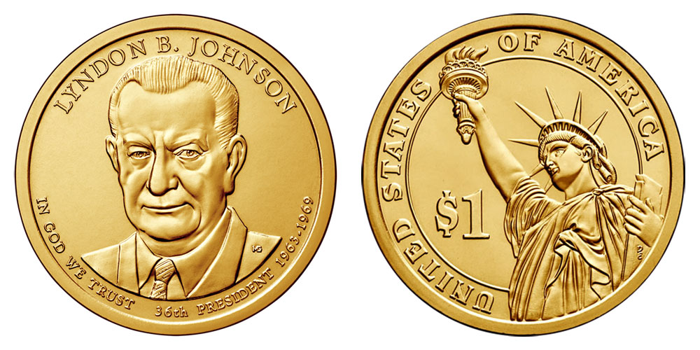 Presidential Dollar Coins 1 Golden Presidents Coins