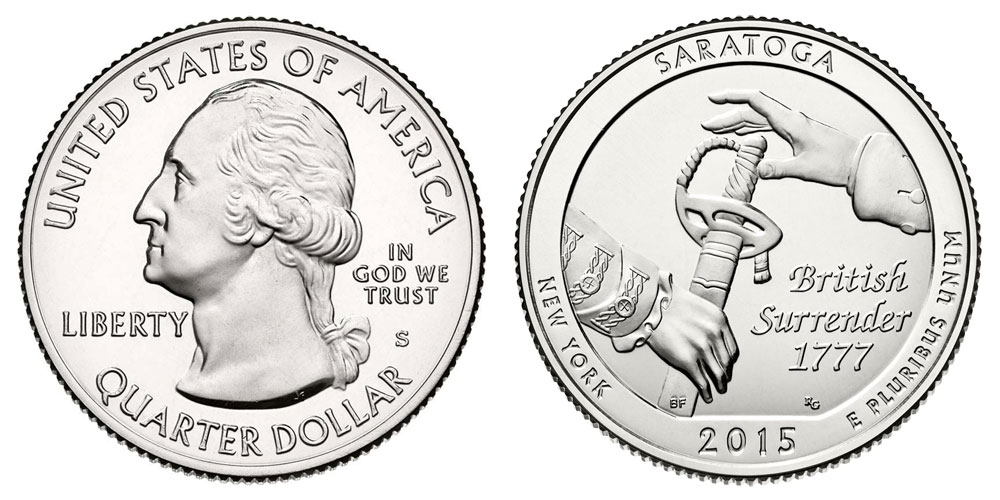 2015 S Saratoga Quarters Uncirculated: Value and Prices