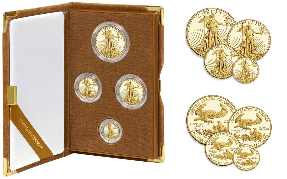 2017 W Gold American Eagle 4 Coin Proof Set