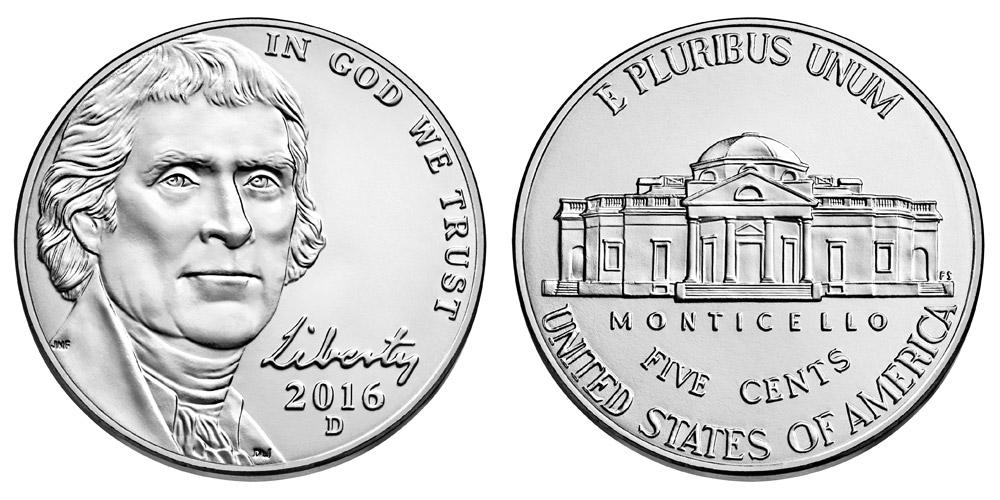 2016 D Jefferson Nickel Coin Value Prices, Photos & Info