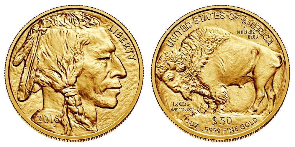 2016 W Gold American Buffalo Bullion Coin 50 One Ounce 24 Karat Gold Coin Value Prices Photos