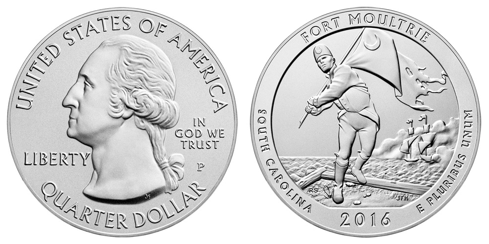 2016 Fort Moultrie Burnished Uncirculated America The
