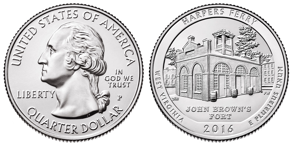 Harpers Ferry National Park Quarter Dollar Coin Set 2016 P/&D