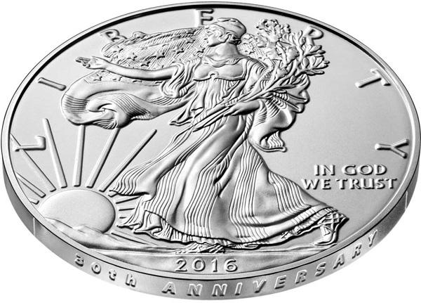 COIN /& COA 2016-W 1OZ PROOF AMERICAN SILVER EAGLE COIN