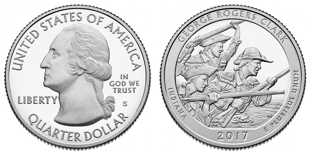 George Rogers Clark National Park Quarter Dollar 2017 S