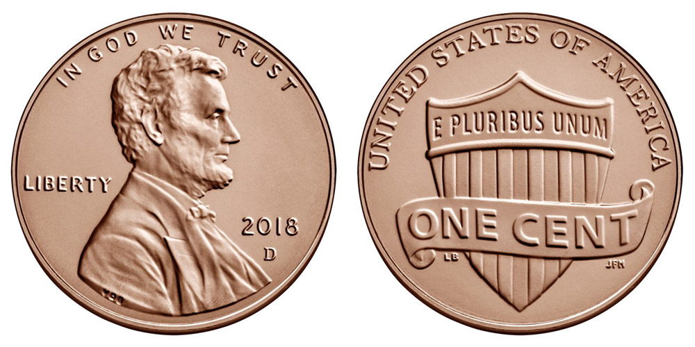 2018 D Lincoln Shield Penny Coin Value Prices, Photos & Info