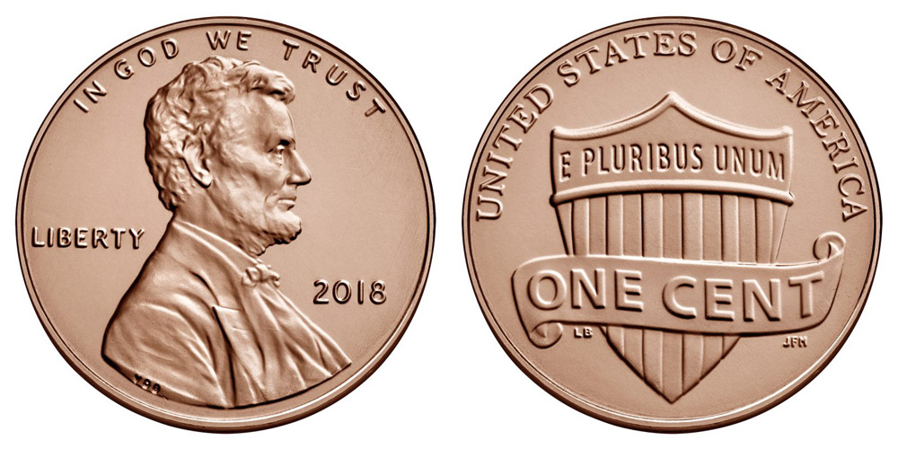 2018-S Shield Lincoln with BU P /& D Three Cent Types! Proof