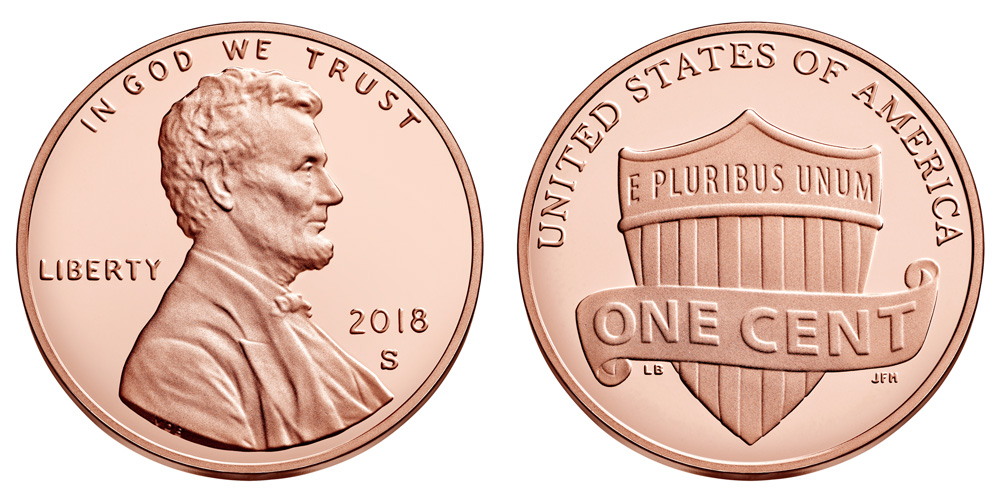2018 s lincoln shield centpenny value and prices