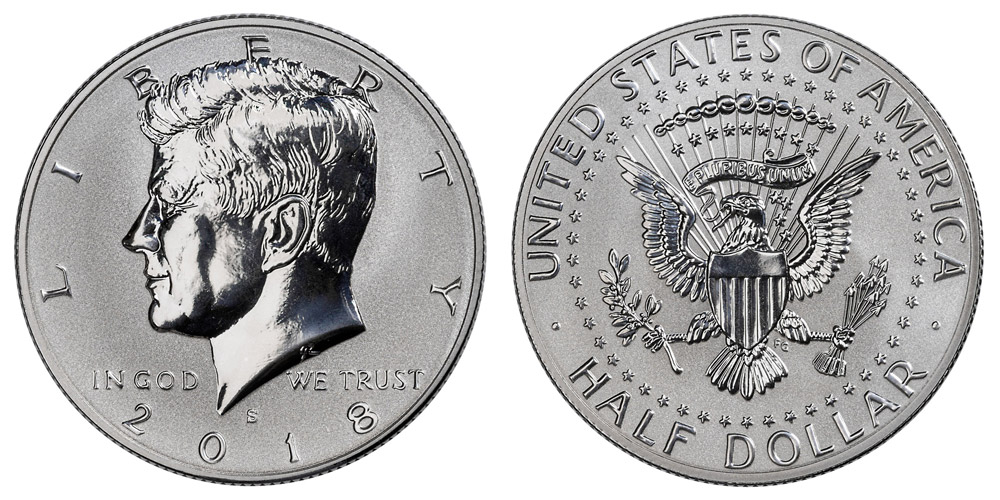 2017 S SILVER  /& 2018 S SILVER  PROOF KENNEDY HALF DOLLARS