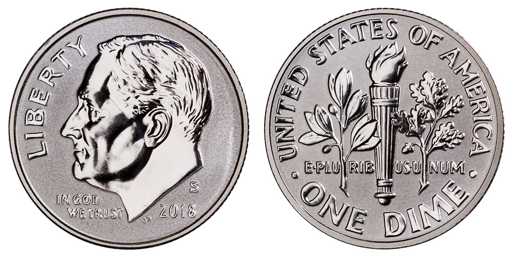 2017 s 90/% silver-proof Roosevelt dime