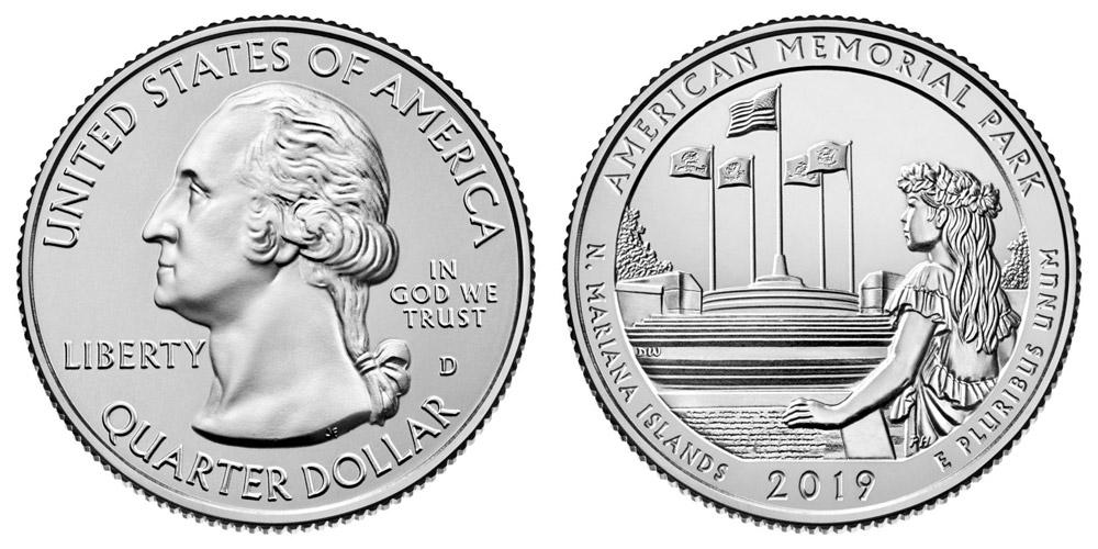 "2019 NORTHERN MARIANA ISLANDS /""ATB/"" NATIONAL PARK QUARTER P//D//S 3-COIN SET UNCIR"