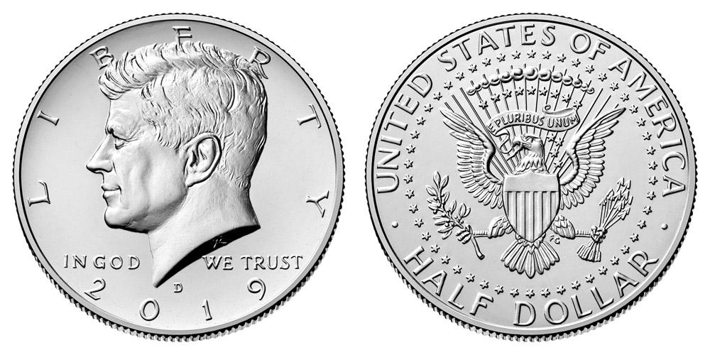 2019-D KENNEDY HALF DOLLAR 50c CLAD UNCIRCULATED COIN