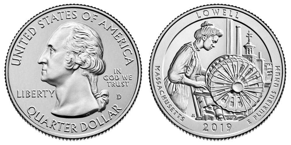2019 D Lowell Quarter Coin Value Prices, Photos & Info