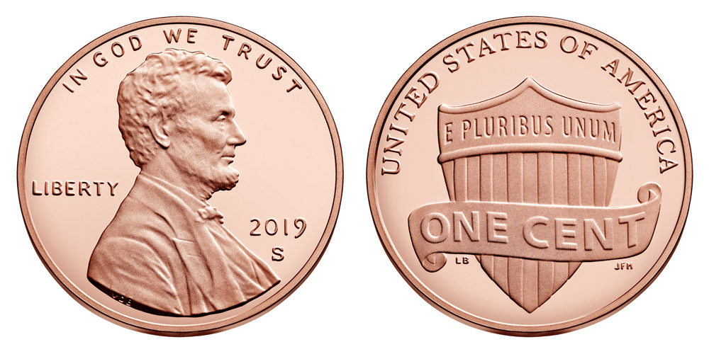 2019 S Proof Lincoln Shield Penny
