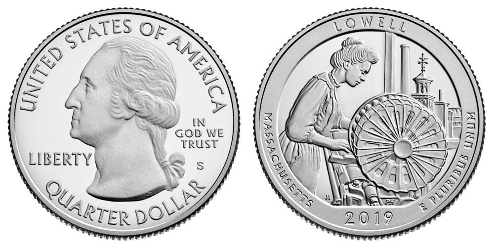 2019 S Silver Lowell Proof Quarter